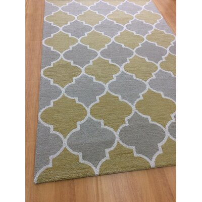 Hand-Woven Gray/Brown Area Rug Rug Size: 5 x 8