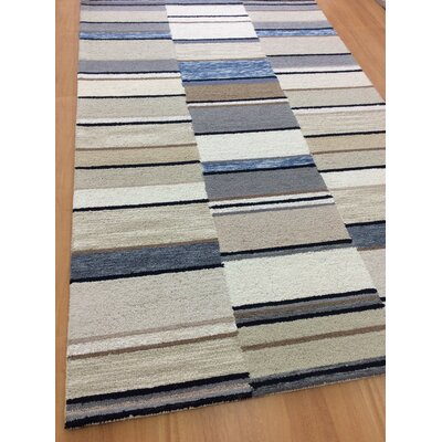 Hand-Woven Ivory/Rust Area Rug Rug Size: 6 x 6