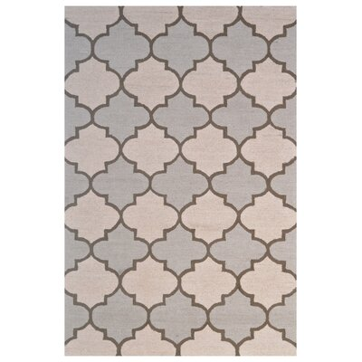 Wool Hand-Tufted Beige/Ivory Area Rug Rug Size: 5 x 8