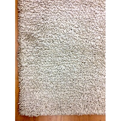Shag Eyeball Woolen Hand Knotted White Area Rug Rug Size: Rectangle 4 x 6