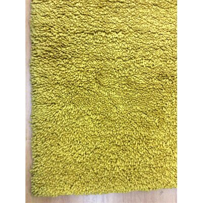 Shag Eyeball Woolen Mustard Hand Knotted Yellow Area Rug Rug Size: Rectangle 10 x 13