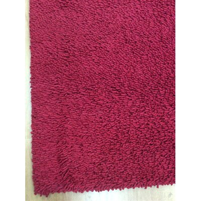 Shag Eyeball Woolen Hand Knotted Wine Red Area Rug Rug Size: 10 x 13