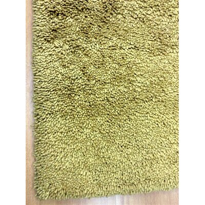 Shag Eyeball Woolen Hand Knotted Green Area Rug Rug Size: Rectangle 9 x 12