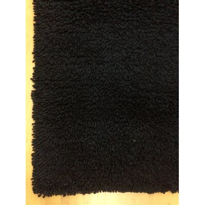 Shag Eyeball Woolen Hand Knotted Charcoal Black Area Rug Rug Size: 5 x 8