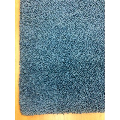 Shag Eyeball Woolen Petrol Hand Knotted Blue Area Rug Rug Size: Rectangle 5 x 8