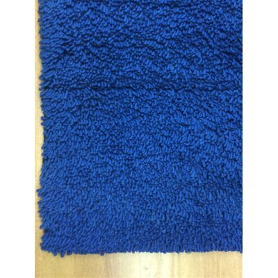 Shag Eyeball Woolen Royal Hand Knotted Blue Area Rug Rug Size: Square 6