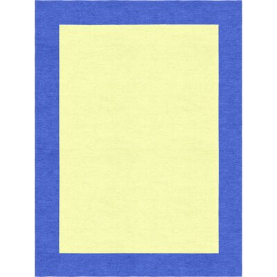 Degen Hand Tufted Wool Persian Blue/Yellow Area Rug Rug Size: 9 x 12