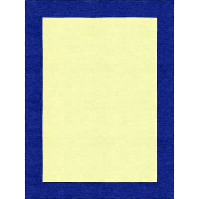 Degen Modern Hand Tufted Wool Navy Blue/Yellow Area Rug Rug Size: 6 x 9