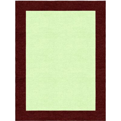 Degen Hand Tufted Wool Wine Red/Green Area Rug Rug Size: 5 x 8