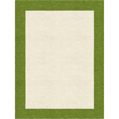 Degen Hand Tufted Wool Olive Green/Beige Area Rug Rug Size: 6 x 9