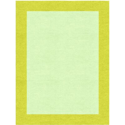 Degen Hand Tufted Wool Lime Green/Green Area Rug Rug Size: 6 x 9