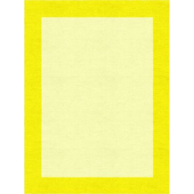 Degen Hand Tufted Wool Yellow Area Rug Rug Size: 5 x 8