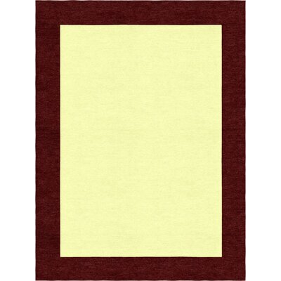 Godsey Hand-Tufted Wool Yellow Area Rug Rug Size: Rectangle 9' x 12'