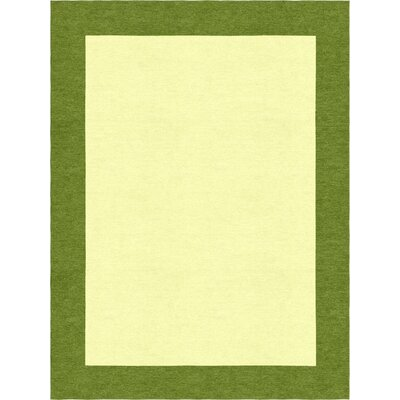Godsey Hand-Tufted Wool Yellow Area Rug Rug Size: Rectangle 8 x 10