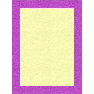 Godsey Hand-Tufted Wool Yellow Area Rug Rug Size: Rectangle 5 x 8