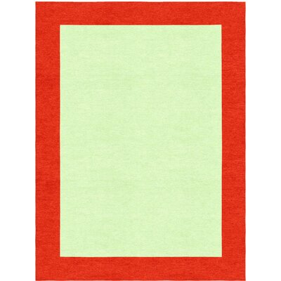 Godsey Hand-Tufted Wool Light Green Area Rug Rug Size: Rectangle 8' x 10