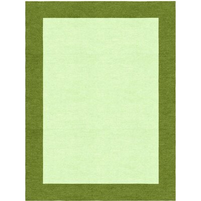 Godsey Hand-Tufted Wool Light Green Area Rug Rug Size: Rectangle 9 x 12