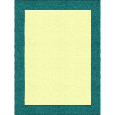 Highlands Hand-Tufted Wool Teal/Yellow Indoor Area Rug Rug Size: Rectangle 9 X 12