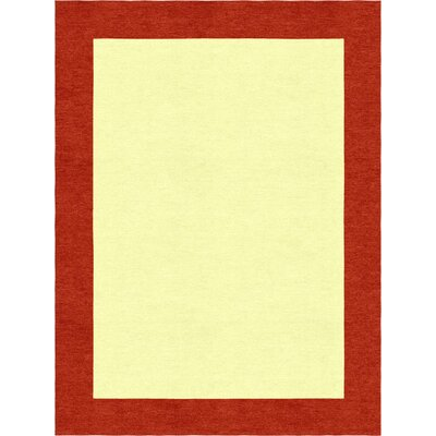 Highlands Hand-Tufted Wool Red/Yellow Area Rug Rug Size: Rectangle 9 X 12
