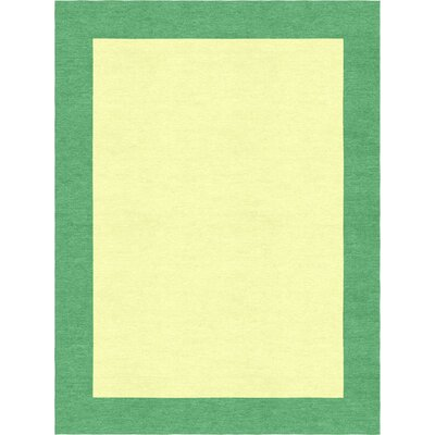 Highlands Hand-Tufted Wool Sea Green/Yellow Area Rug Rug Size: Rectangle 6 X 9