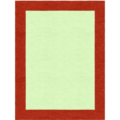 Highlands Hand-Tufted Wool Red/Lime Green Area Rug Rug Size: Rectangle 9 X 12