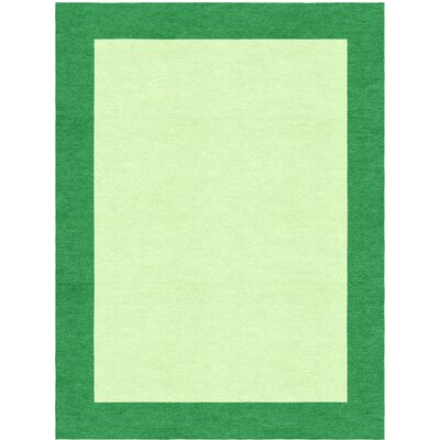 Highlands Hand-Tufted Wool Green/Dark Green Area Rug Rug Size: Rectangle 6 X 9