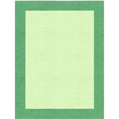 Highlands Hand-Tufted Wool Sea Green/Green Area Rug Rug Size: Rectangle 5 X 8