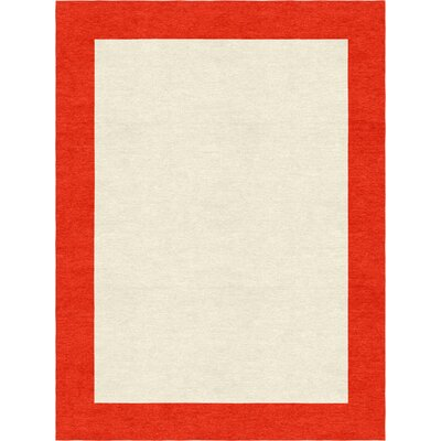 Highlands Modern Hand-Tufted Wool Red/Pink Area Rug Rug Size: Rectangle 8 X 10