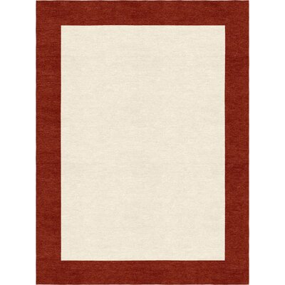 Highlands Hand-Tufted Wool Red/Beige Area Rug Rug Size: Rectangle 5 X 8