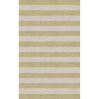 Chabot Hand Tufted Silver Beige Stripe Area Rug Rug Size: Rectangle 9 x 12