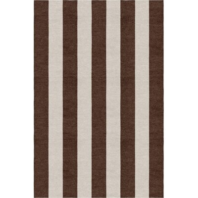 Clauson Stripe Hand-Woven Wool Silver/Brown Area Rug Rug Size: Rectangle 8 X 10