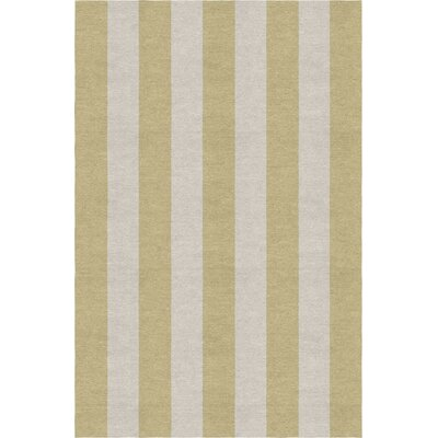 Burnell Hand-Woven Wool Beige/Silver Area Rug Rug Size: Rectangle 6' x 9'