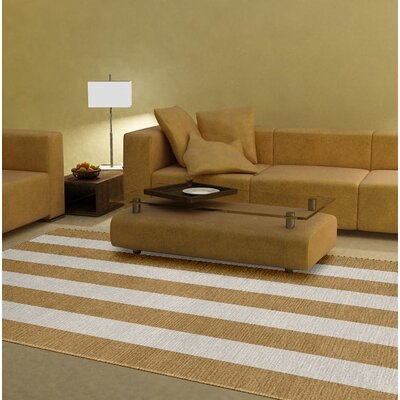 Burnell Hand-Woven Wool Camel/Silver Area Rug Rug Size: Rectangle 6 x 9