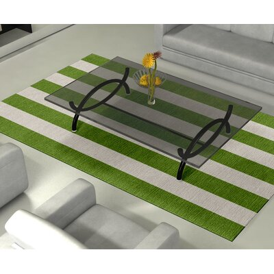 Burnell Hand-Woven Wool Green/Silver Area Rug Rug Size: Rectangle 5 x 8
