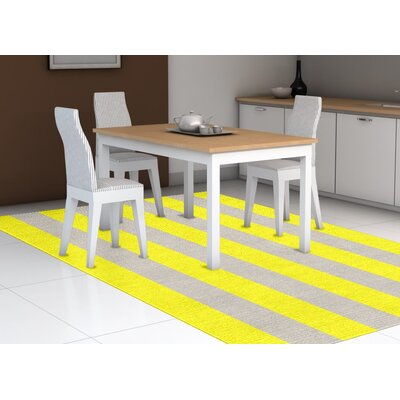 Burnell Hand-Woven Wool Yellow/Silver Area Rug Rug Size: Rectangle 6 x 9
