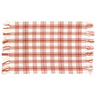 Mcbride Red/White Area Rug