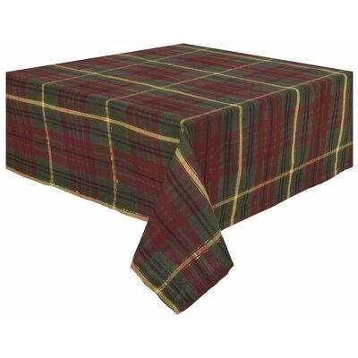 "Christmas 100% Cotton Plaid Tablecloth Size: 90"" W x 54"" L"