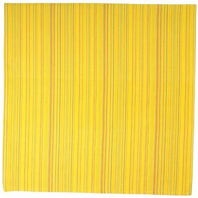 Towanna 100% Cotton Striped Tablecloth Color: Yellow, Size: 60