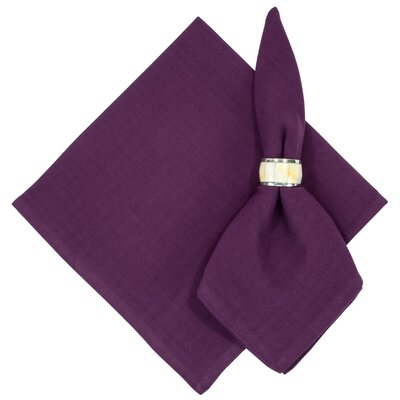 Treston Solid Napkin Color: Merlot Purple