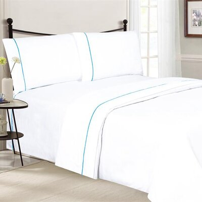 Santi Luxurious Microfiber 4 Piece Sheet Set Size: King, Color: White