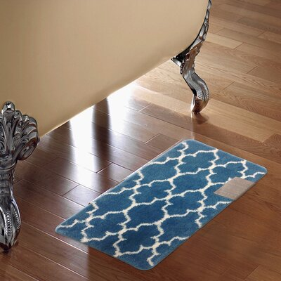 Barcelona Bath Rug Color: Teal