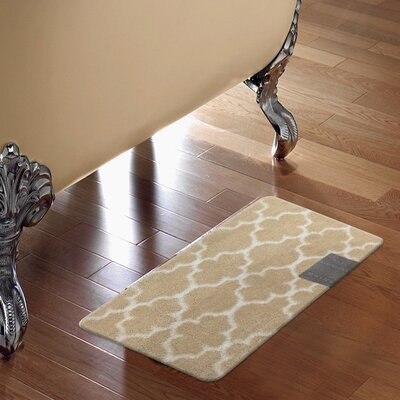 Barcelona Bath Rug Color: Beige