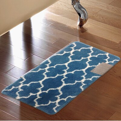 Barcelona Bath Rug Color: Blue