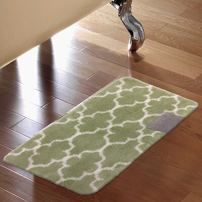 Barcelona Bath Rug Color: Green
