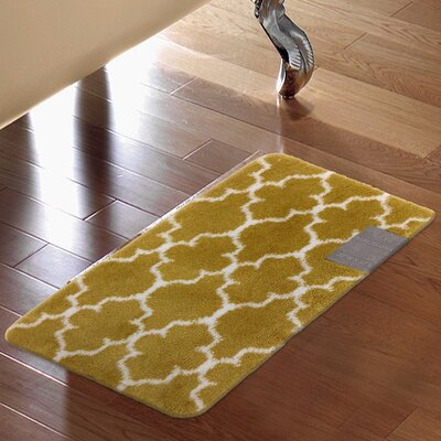 Barcelona Bath Rug Color: Gold