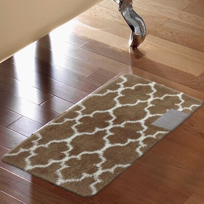 Barcelona Bath Rug Color: Brown