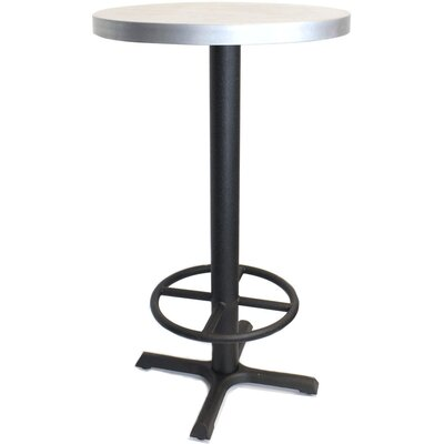 Round Pub Table Finish: Zinc, Tabletop Size: 24 W x 24 D