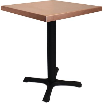 30 in. Square Dining Table Top Finish: Copper