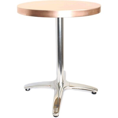 36 in. Round Dining Table Top Finish: Copper