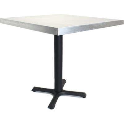 24 in. Square Dining Table Top Finish: Zinc